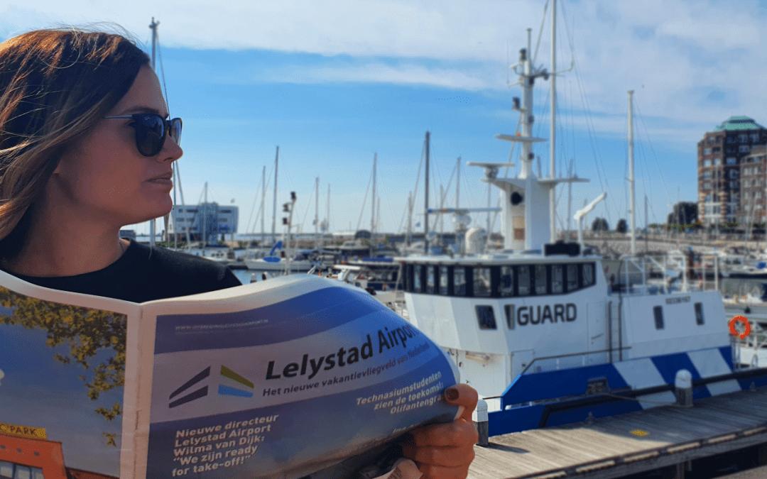 Nieuwe editie Lelystad Airportkrant: het nieuwe vakantievliegveld van Nederland is 'ready for take-off'